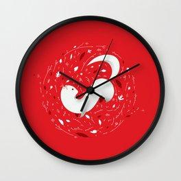 cute mink  Wall Clock