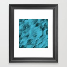 low poly texture Framed Art Print
