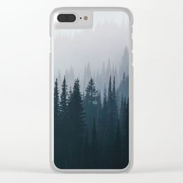 Fog Trees Clear iPhone Case