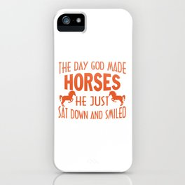 GOD MADE HORSES iPhone Case