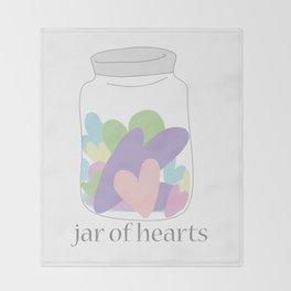 Jar of Hearts Throw Blanket