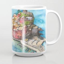 Cinque Terre ink & watercolor illustration Coffee Mug