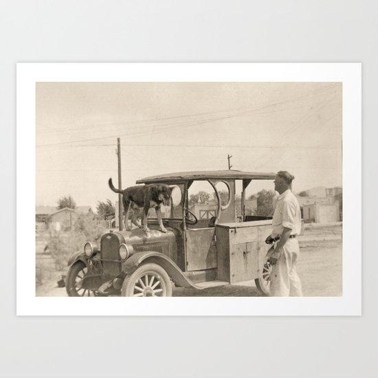 Man's Best Friend - A Vintage Photograph Art Print
