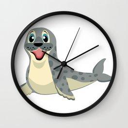 Smiling Baby Seal Wall Clock