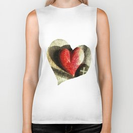 Red Heart and Cross of Stone Biker Tank