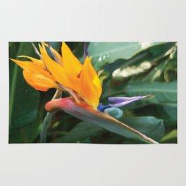 Crane Flower Mandela Rug