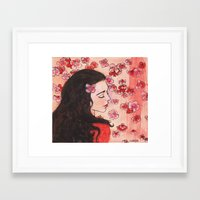 snow white Framed Art Prints featuring Snow White by Sarah Larguier