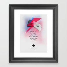 Blackstar (from Mars) Framed Art Print