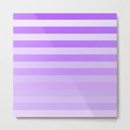 Purple Stripes Fade Metal Print