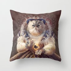 Cat Queen Throw Pillow