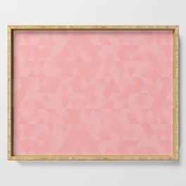 Pastel Millennial Pink Geometric Pattern Serving Tray