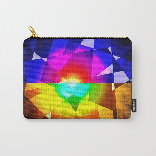 lined color flash Carry-All Pouch