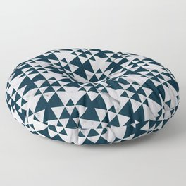 Southwestern Triangle Design over White Grey Marble Floor Pillow