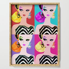 Pop Art Barbie Serving Tray