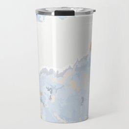 Blue & Gold Art Travel Mug