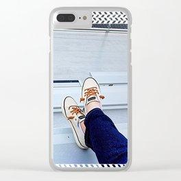Bleacher Shoes & Blue Jeans Clear iPhone Case