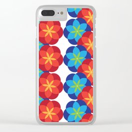 Twin Blooms Clear iPhone Case