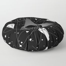 Space Crystals & Secrets of the Universe Floor Pillow