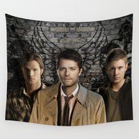supernatural Wall Tapestries featuring Supernatural by SB Art Productions