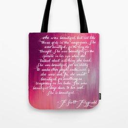 She is Beautiful Tote Bag