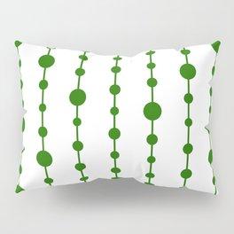 Green vertical lines and dots Pillow Sham