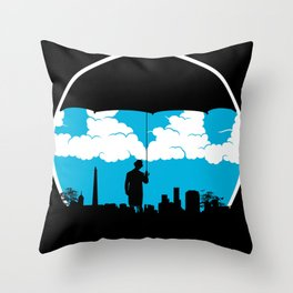Umbrella Man Throw Pillow