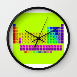 Periodic table of element Wall Clock