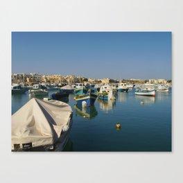 European Boats Canvas Print