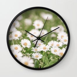 Field of Daisies 02 Wall Clock