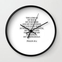Psalm 18:2 Wall Clock