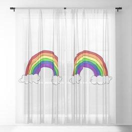 LGBT Rainbow Sheer Curtain