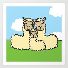 Lovely Llama's Art Print