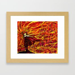 City of Fire Framed Art Print