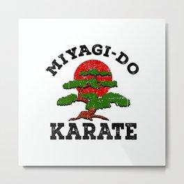 Miyagi-Do Karate Fight Funny Bonsai Tree T-Shirt Metal Print