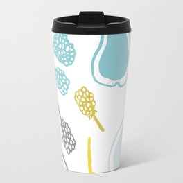 Apples and pears in yellow and blue Travel Mug