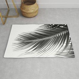 Palm Leaves Black & White Vibes #5a #tropical #decor #art #society6 Rug