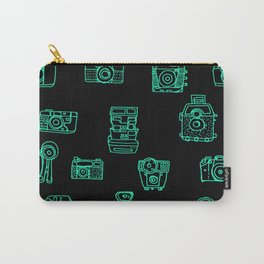 Cameras: Teal - pop art illustration Carry-All Pouch