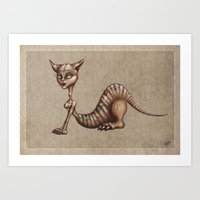 sphynx Art Prints featuring Sphynx by M. Adeline Nef