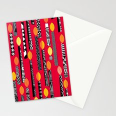 Flaming Red Stationery Cards