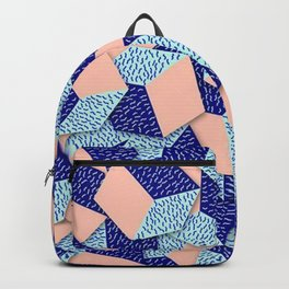 Colorful Aqua Geometric Pattern Backpack