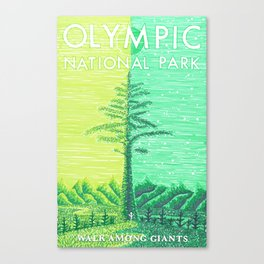 Olympic National Park tribute poster Canvas Print