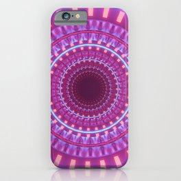 Futuristic Fuchsia Mandala     iPhone Case