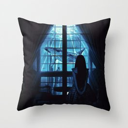 Nightly Visit Throw Pillow