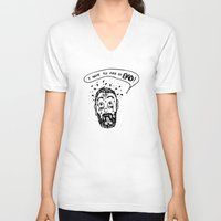 pee wee V-neck T-shirts featuring Pee by Addison Karl