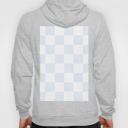 Large Checkered - White and Pastel Blue Hoody
