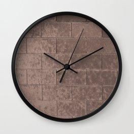 Muted Textures: Wall No. 2 Wall Clock