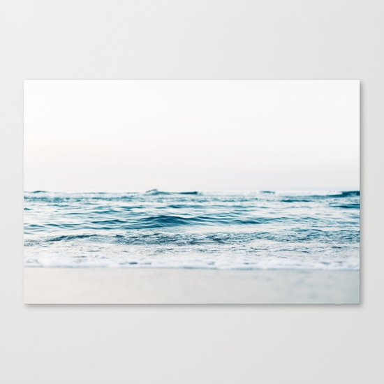 turquoise waves Canvas Print