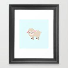 good luck sheep Framed Art Print