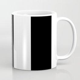 5th Avenue Stripe No. 2 in Black and White Onyx Coffee Mug
