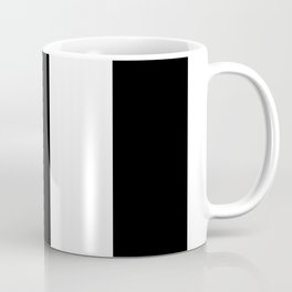 5th Avenue Stripe No. 2 in Black and White Onyx Coffee Mug